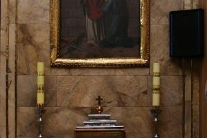 Ołtarz boczny z obrazem św. Walentego w Grodzisku