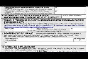 PIT 37 -1 % podatku DFK Rozmierka