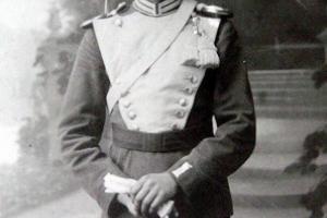 Franz Gomolla (1888 - 1960) przy wojsku około 1910 r.