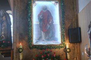 Wierni modlący się do św. Walentego w dniu jego święta