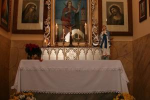 Wnętrze kaplicy na Podborzanach