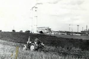 Cementownia Strzelce Opolskie przy Rozmierce. Lata 80-te XX w.
