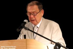 Laudację wygłosił były dyrektor Zespołu Szkół Zawodowych Eugeniusz Szymaniec