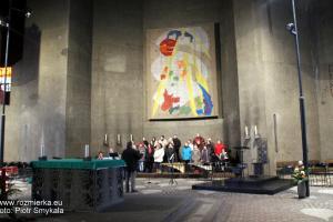 Kościół katolicki zbudowany z betonu w Neviges koło Velbert