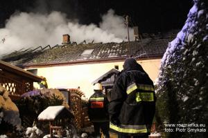 Pożar domu - Jędrynie (gmina Strzelce Opolskie)