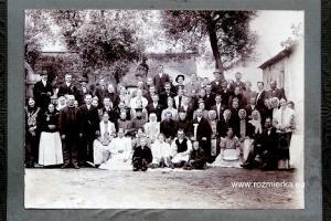 Wesele około 1915 r.  u Kozła  w Rozmierce ul. Jemielnicka