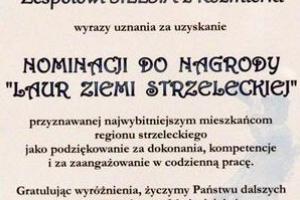 List Gratulacyjny dla zespołu Silesia