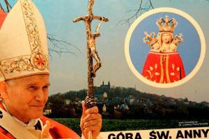 Pamiątka ze spotkania z papieżem na Górze św. Anny