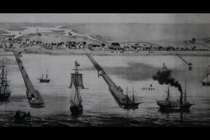 Port Indianola pod koniec XIX wieku