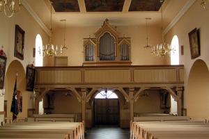 Kościół w Rozmierzy. Nawa tylnia.