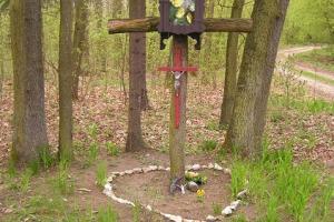 Krzyż w lesie
