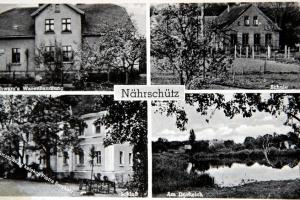 Pocztówka przedstawiająca Naroczyce rodzinną wieś burmistrza Horsta Pallaske.