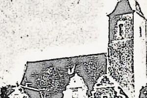 Kościół w Żórawinie około 1900 roku